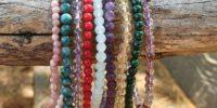 Lot de 3 bracelets pierres rares en 4mm