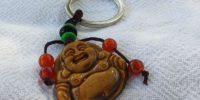 Porte clés bouddha en œil du tigre
