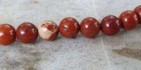 Fil en Jaspe rouge